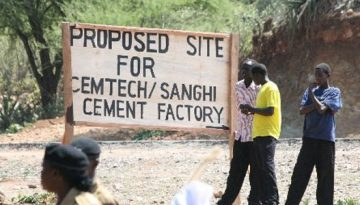 TANZANIA TO CONSTRUCT A CEMENT FACTORY IN WEST POKOT COUNTY KENYA