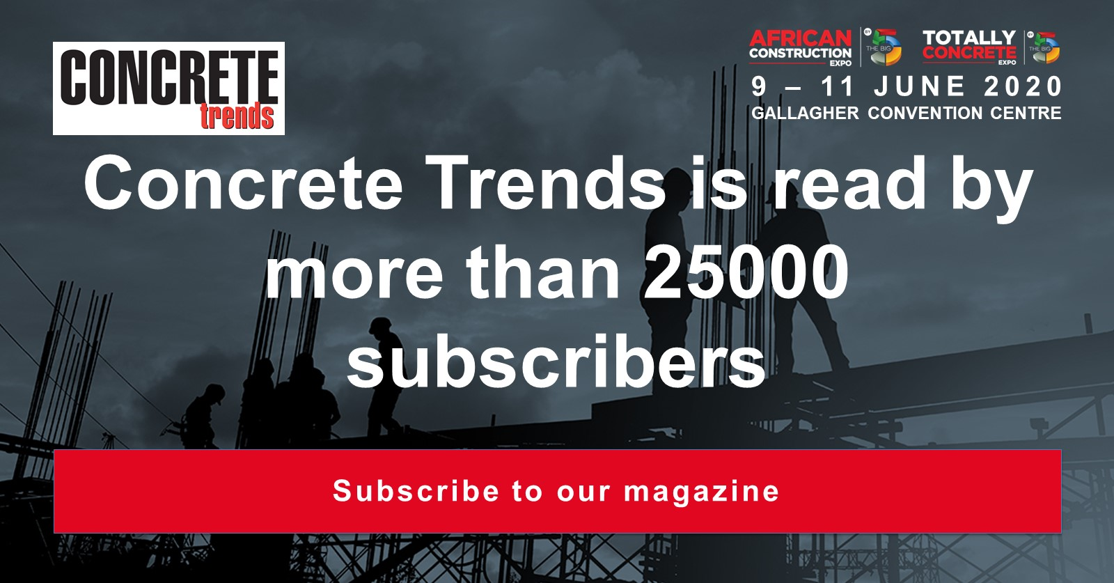 Concrete Trends is read by more than 25000 subscribers