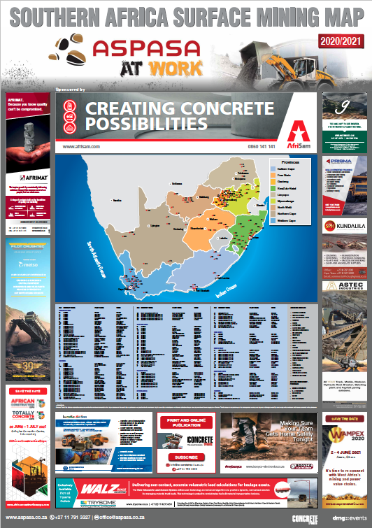 SOUTHERN AFRICA SURFACE MINING MAP 2020