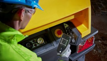 Customer can scan a QR code to obtain information on Atlas Copco machines