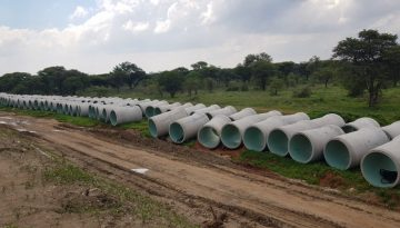 Polokwane HDPE Pipes at site
