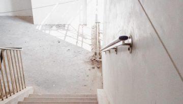 abe - duralite on stairwell wall
