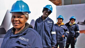 Production Technology Learnership participants on Induction Day.