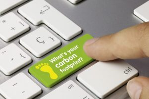 What's your carbon footprint? keyboard finger